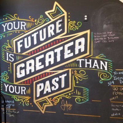 your future is greater than your past くだもん
